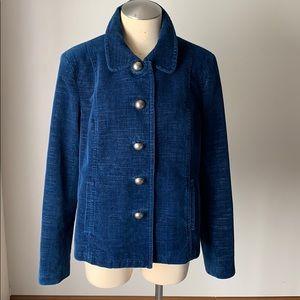 SIGRID OLSEN Blue Velvet Jacket